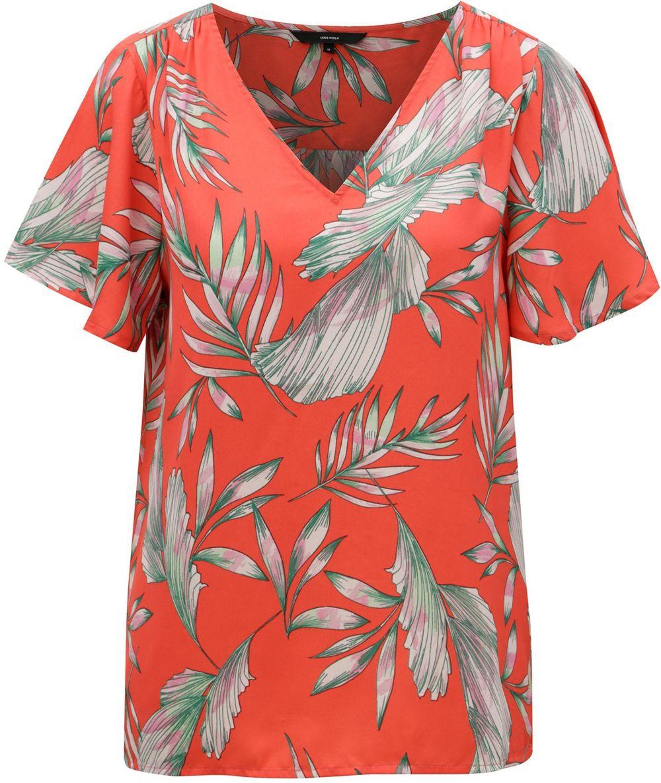 10eeb4b3a823 Červená kvetovaná blúzka VERO MODA Maharete značky Vero Moda - Lovely.sk