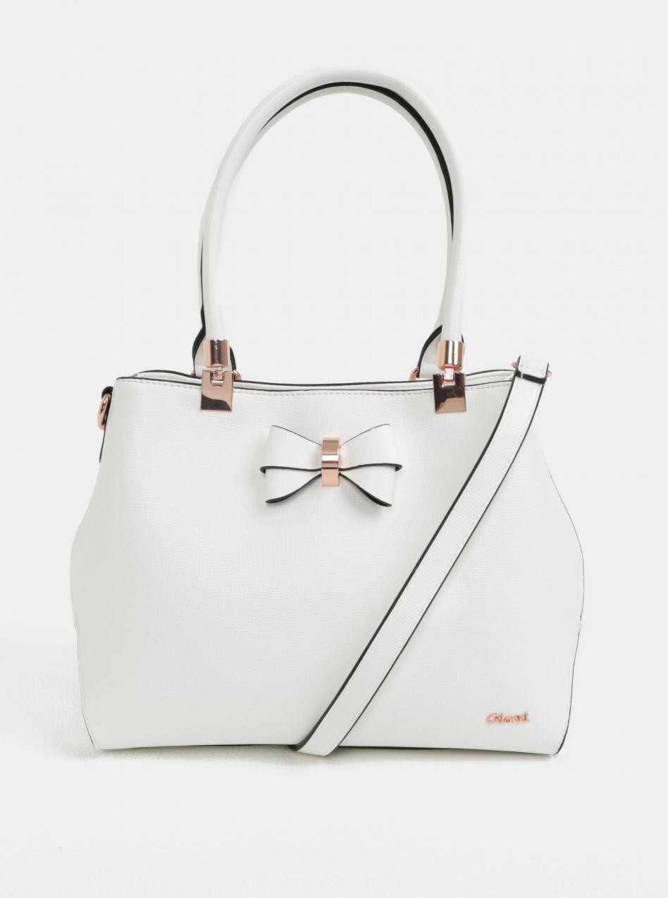 4fee592a2a3a Biela kabelka s mašľou Gionni Avril značky Gionni - Lovely.sk