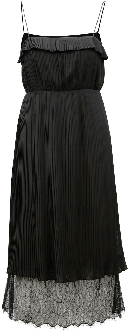 Čierne plisované šaty s čipkou VILA Vivida značky VILA - Lovely.sk d4ad461a8fc