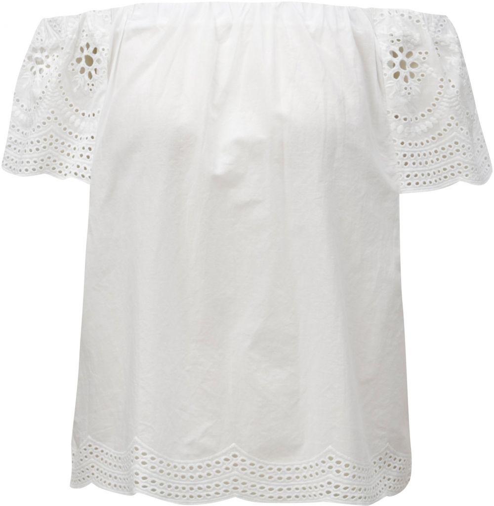 b7516e45b7a1 Biela blúzka s odhalenými ramenami Dorothy Perkins značky Dorothy ...