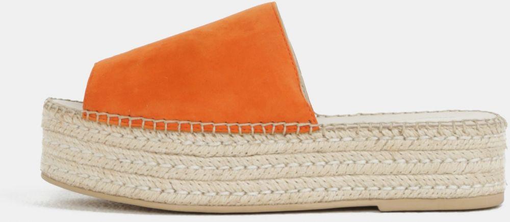eade69eabedb Oranžové dámske semišové šľapky na platforme Vagabond Celeste značky ...