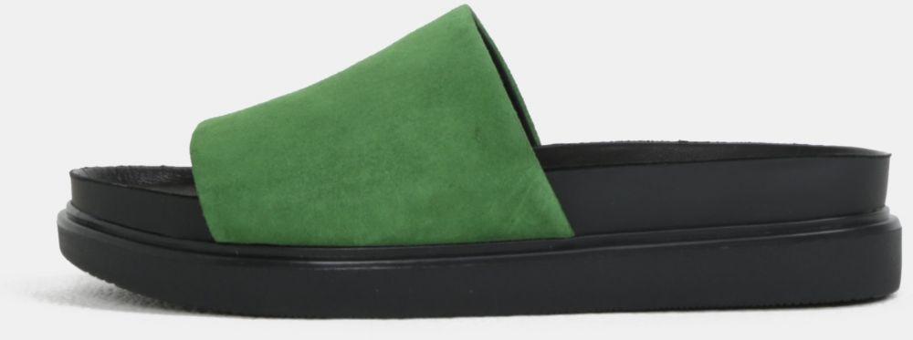 c44bc7c16a0c Čierno-zelené dámske semišové šľapky na platforme Vagabond Erin značky  Vagabond - Lovely.sk