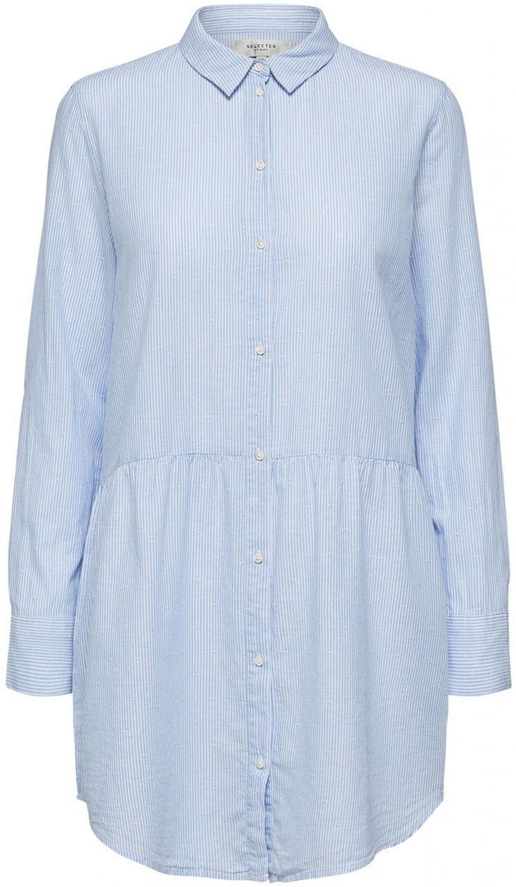 5a0e9101ec67 Svetlomodrá pruhovaná dlhá košeľa Selected Femme Tania značky Selected  Femme - Lovely.sk