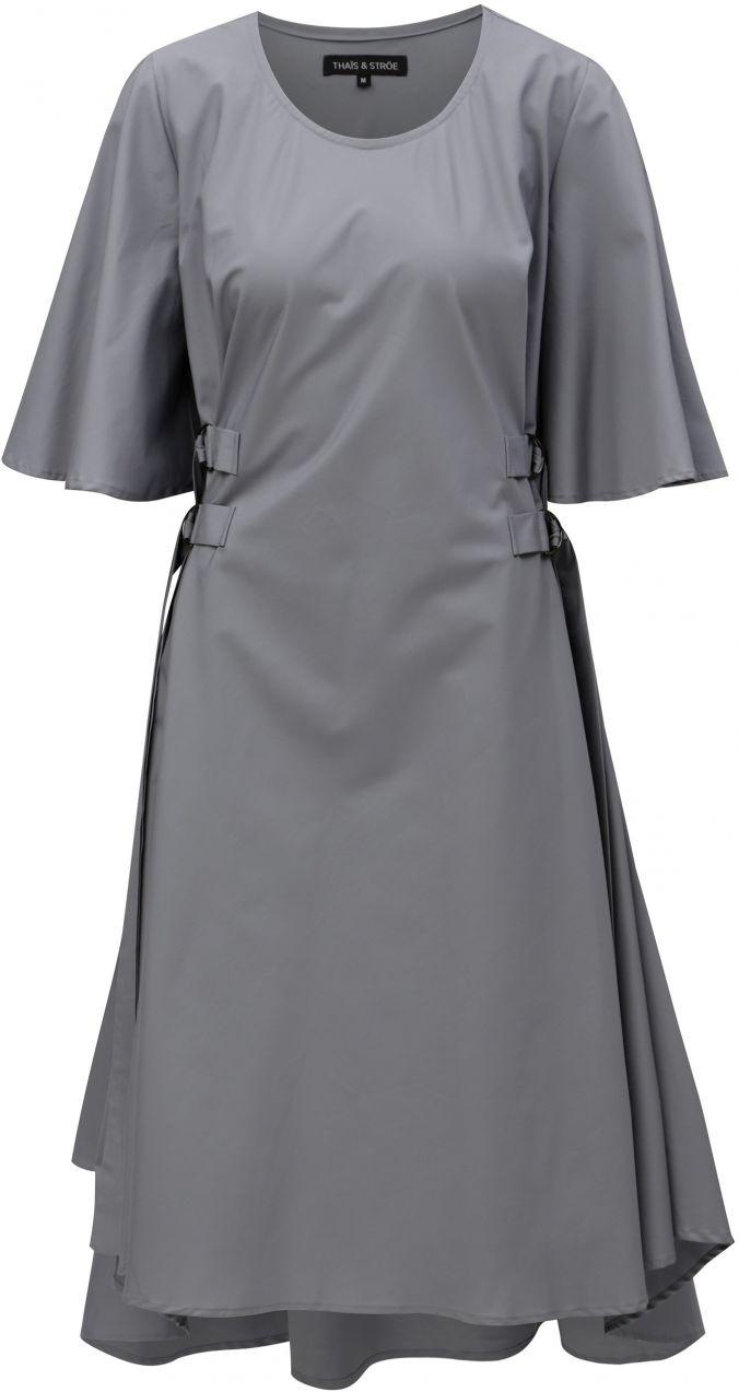 Sivé šaty so zvonovými rukávmi THAÏS   STRÖE značky THAÏS   STRÖE -  Lovely.sk fd95c76a184