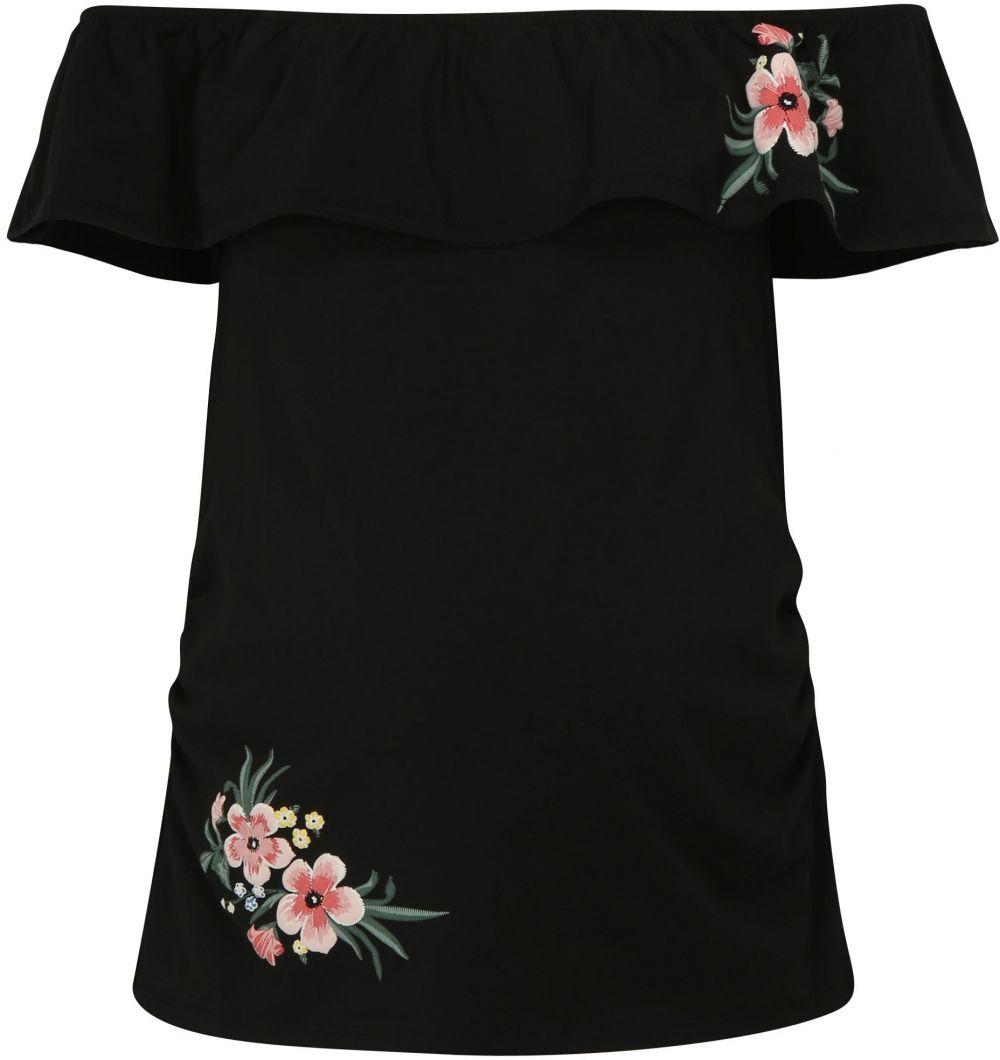 3ff40e9f7623 Čierne tehotenské tričko s odhalenými ramenami Dorothy Perkins Maternity  značky Dorothy Perkins Maternity - Lovely.sk
