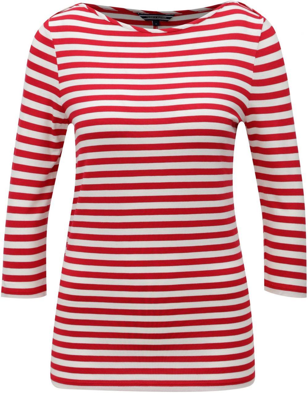 4de477b577 Bielo-červené dámske pruhované tričko Tommy Hilfiger značky Tommy Hilfiger  - Lovely.sk