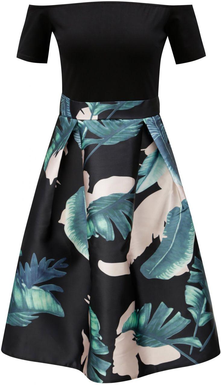 9e904e6a8148 Čierne áčkové šaty s odhalenými ramenami AX Paris značky AX Paris -  Lovely.sk