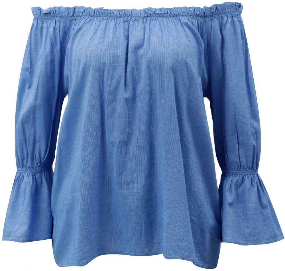 f8a9a7e01e Modrá blúzka s odhalenými ramenami Blendshe Daisy značky Blend She ...