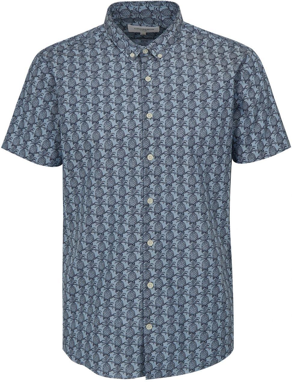 978567e24e96 Svetlomodrá vzorovaná košeľa s krátkym rukávom Lindbergh značky ...