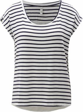 c22892685588 Modro-biele pruhované tričko s prekladanou zadnou časťou Blendshe Honey