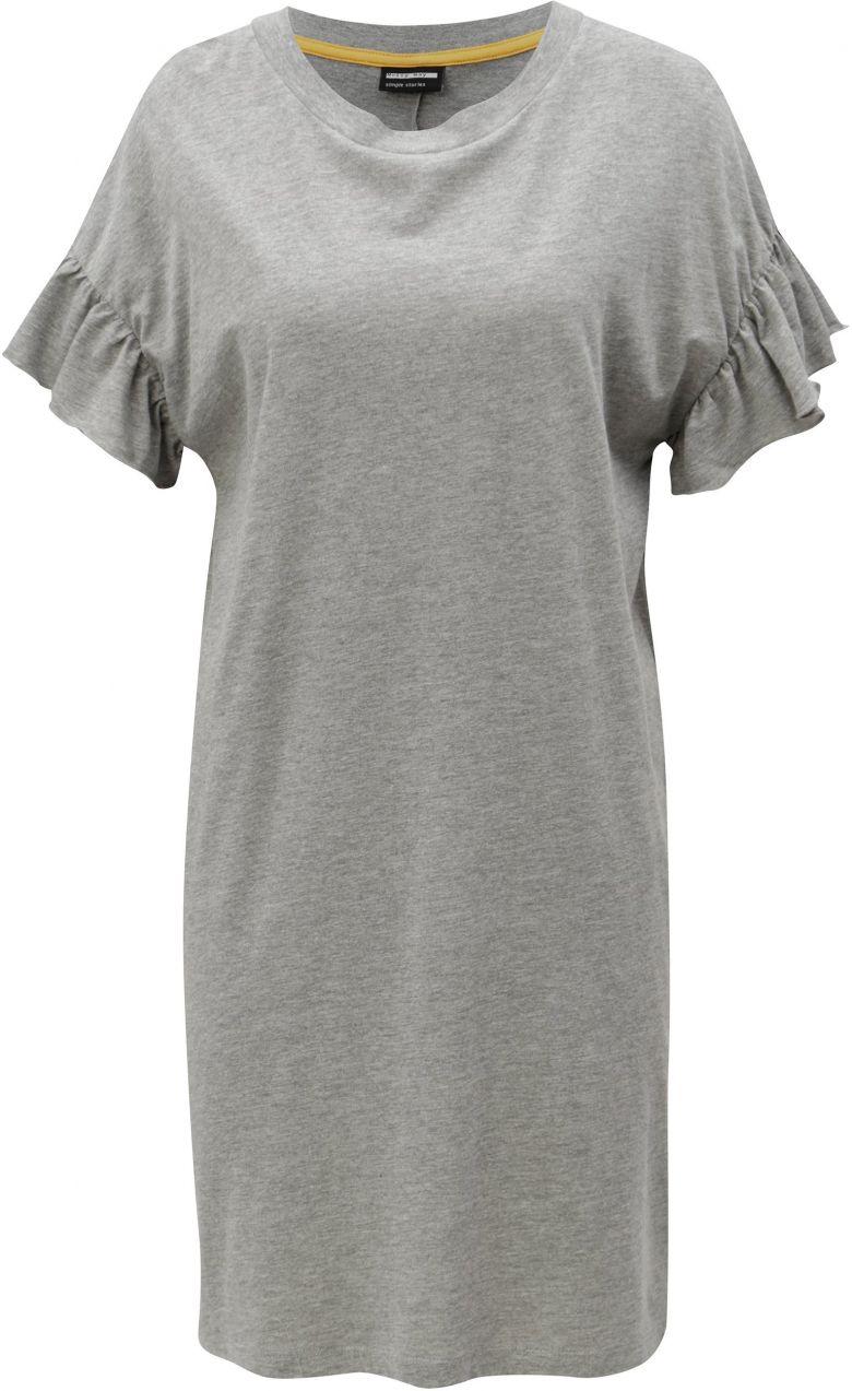 6edbc68ed44d Sivé melírované šaty s krátkym rukávom Noisy May Bryn značky Noisy May -  Lovely.sk