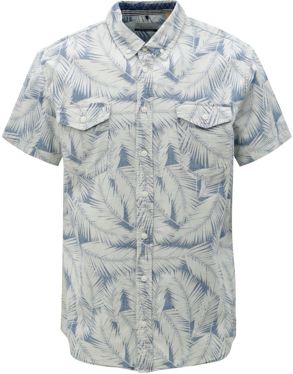 eacbb6f75f4c Modro-krémová vzorovaná slim fit košeľa Blend značky Blend - Lovely.sk