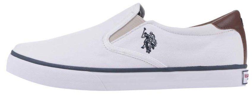 536c6fce3 Biele pánske slip on tenisky U.S. Polo Assn. Leroy značky U.S. Polo Assn. -  Lovely.sk