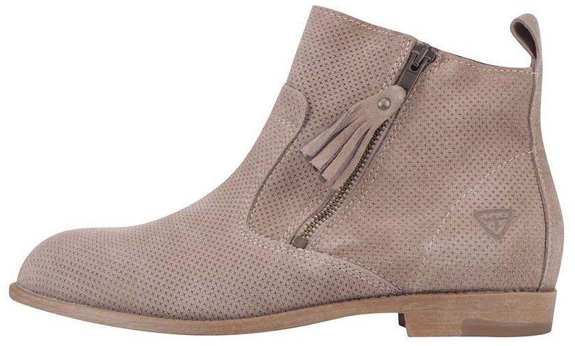 d926e6579e5b3 Béžové kožené členkové topánky Tamaris značky Tamaris - Lovely.sk