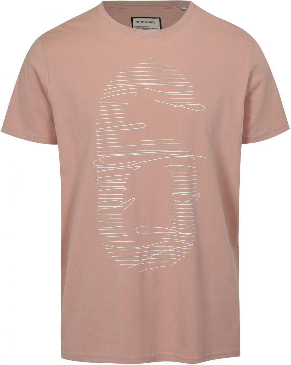 a087d79fa3df Svetloružové tričko s potlačou číslice Shine Original značky Shine Original  - Lovely.sk