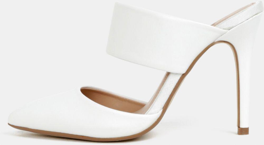 014fd6b99fff Biele topánky do špičky na podpätku Dorothy Perkins značky Dorothy Perkins  - Lovely.sk
