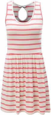 73d740313b76 Bielo–ružové pruhované šaty s prestrihom na chrbte ONLY Rina