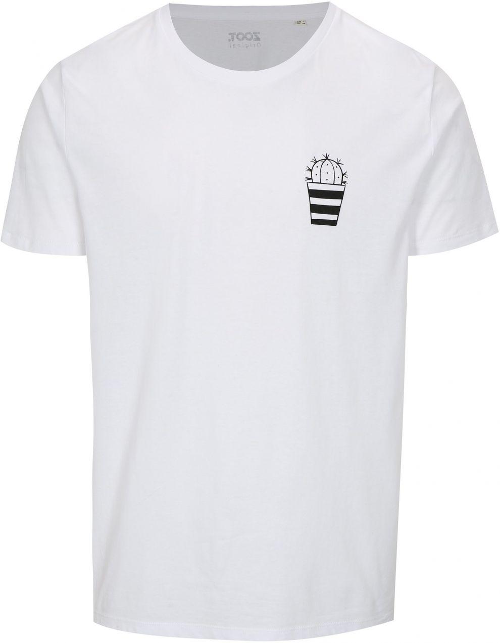 966489d18608d Biele pánske tričko ZOOT Original Kaktus značky ZOOT Originál - Lovely.sk