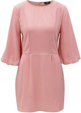 Ružové šaty s 3 4 rukávmi AX Paris 72b92c1d265