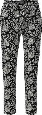 933b4ef88f6e Bielo-čierne vzorované voľné nohavice vysokým pásom Haily s Ronja