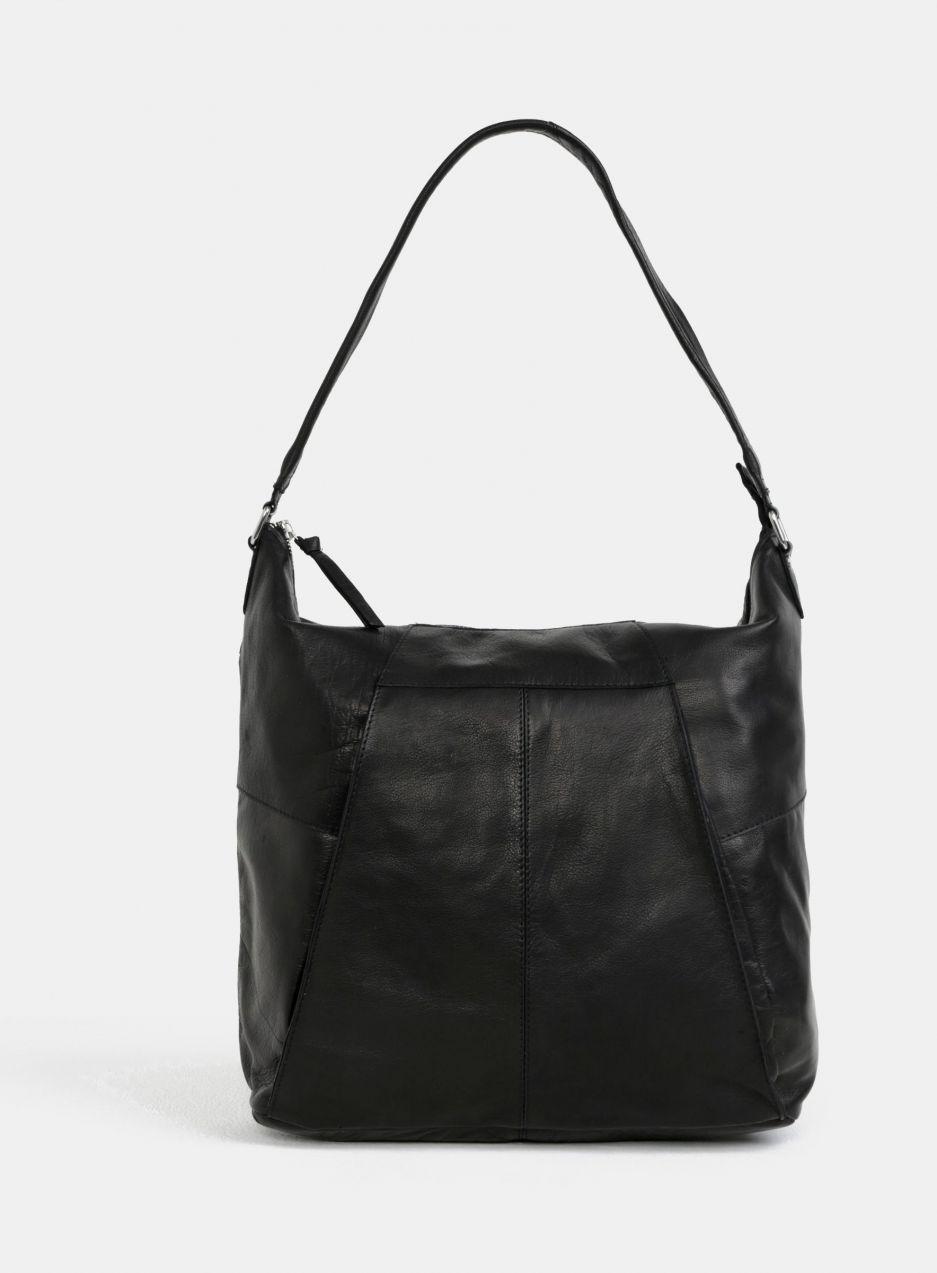 Čierna kožená kabelka cez rameno Pieces Dehbra značky Pieces - Lovely.sk 6bdca613a07