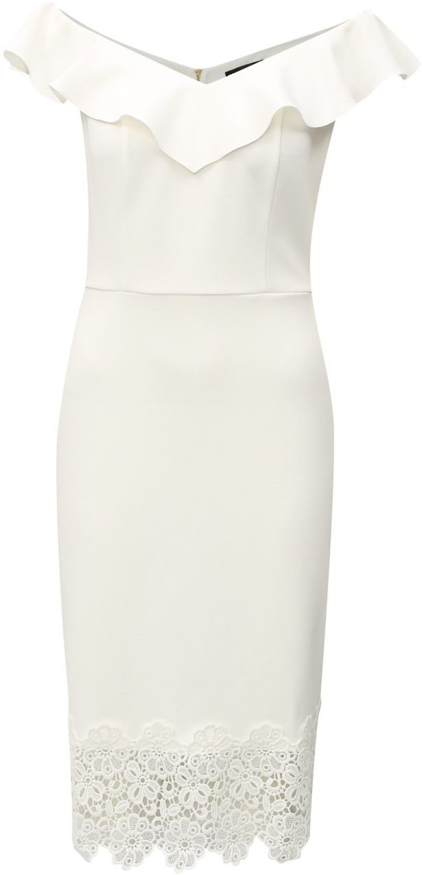 064439b898f1 Biele šaty s čipkou a s lodičkovým výstrihom Dorothy Perkins značky Dorothy  Perkins - Lovely.sk
