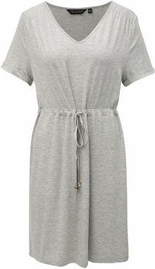 d878fbf21f Sivé melírované šaty so zaväzovaním Dorothy Perkins