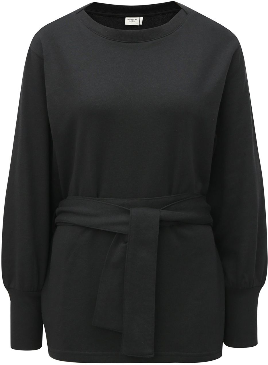 Čierna dlhá mikina s opaskom Jacqueline de Yong značky Jacqueline de ... 9ec9e8c0aa0