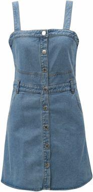 0fc6b7ee3846 Modré rifľové šaty s gombíkmi Miss Selfridge