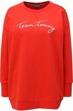 c2e7126e49f Červená dámska mikina Tommy Hilfiger