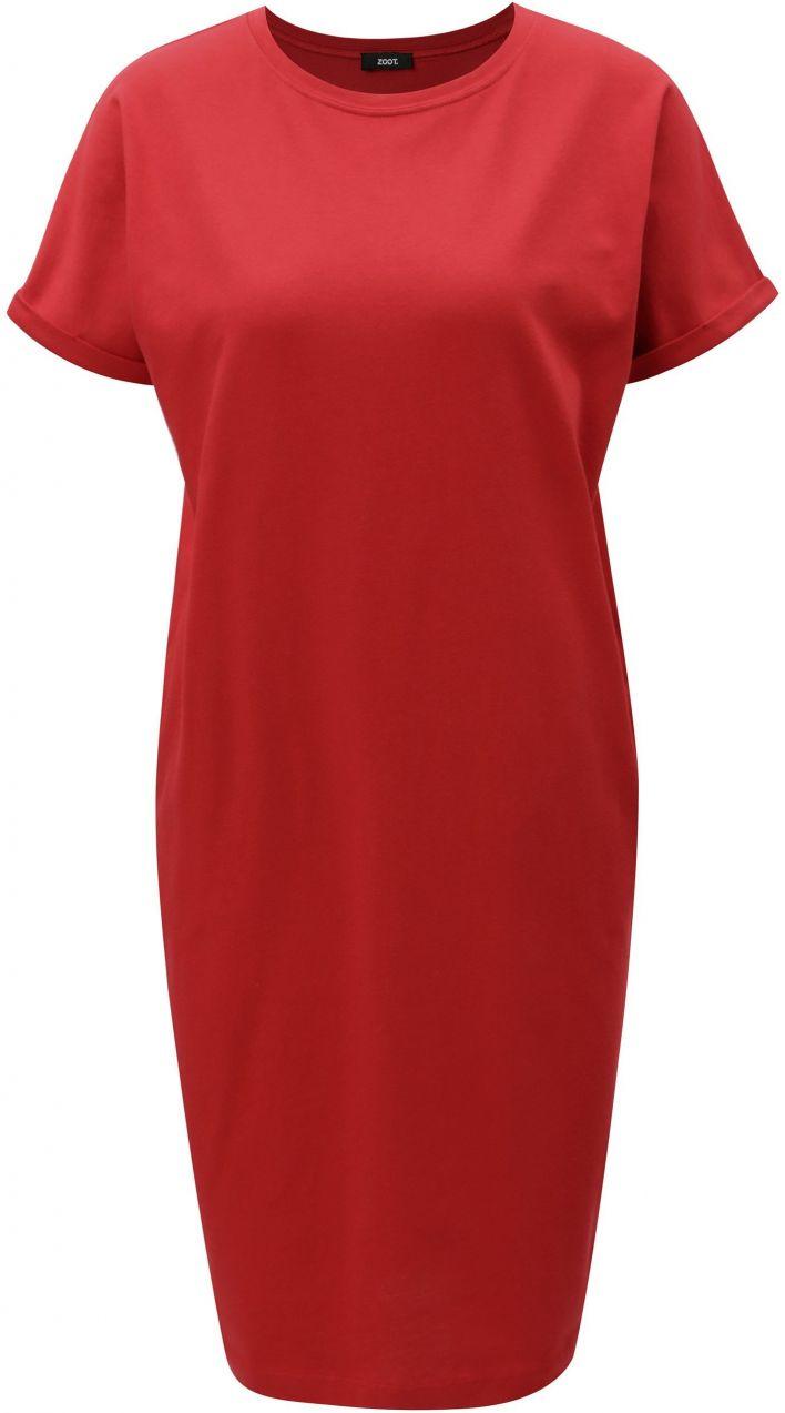 Červené puzdrové šaty s vreckami ZOOT značky ZOOT - Lovely.sk 3ee5e118a65