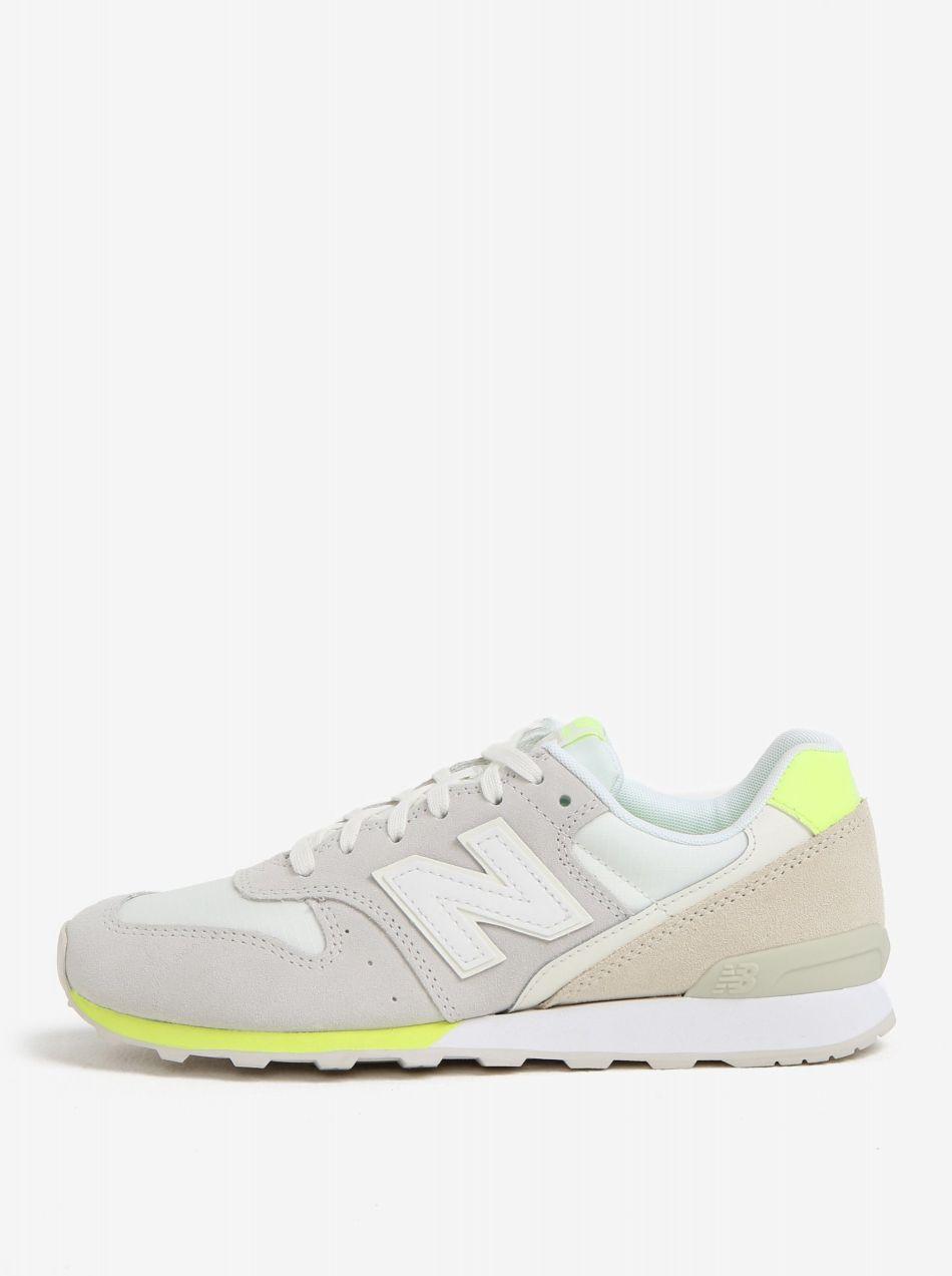 Sivo–žlté dámske semišové tenisky New Balance značky New Balance ... afc57b88e8f