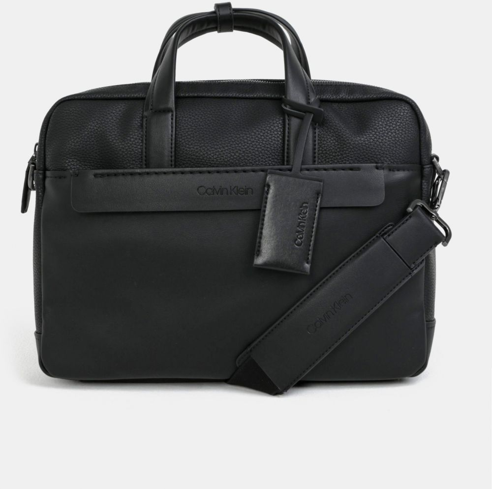 ba9151c01 Čierna koženková taška na notebook Calvin Klein Jeans značky Calvin Klein  Jeans - Lovely.sk