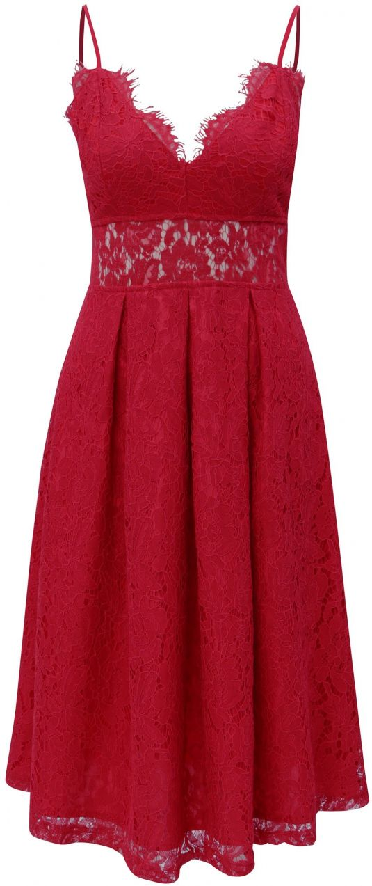 46c6d3212216 Červené čipkované šaty MISSGUIDED značky Missguided - Lovely.sk