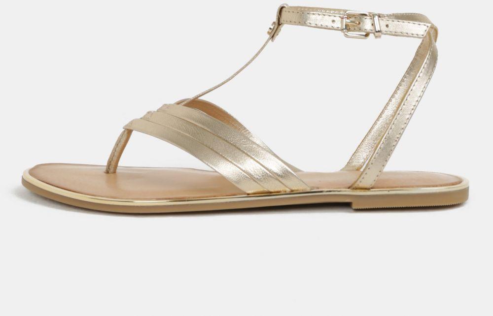 a94e76c64b6c Dámske kožené sandále v zlatej farbe Tommy Hilfiger značky Tommy Hilfiger -  Lovely.sk