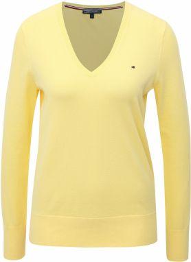 Žltý dámsky sveter s véčkovým výstrihom Tommy Hilfiger 311133e08ad