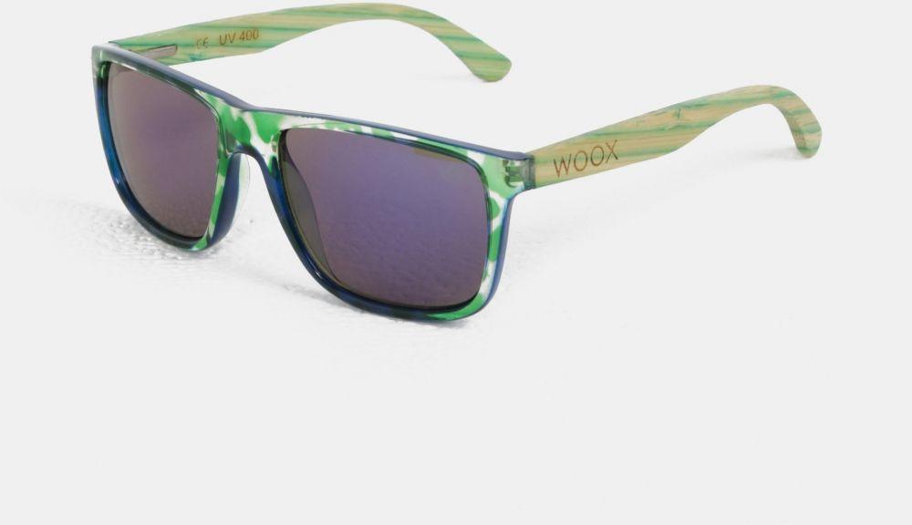 Zelené vzorované slnečné okuliare s bambusovými postrannicami WOOX  Contrasol Bambusa Chloris značky Woox - Lovely.sk d399b237f36