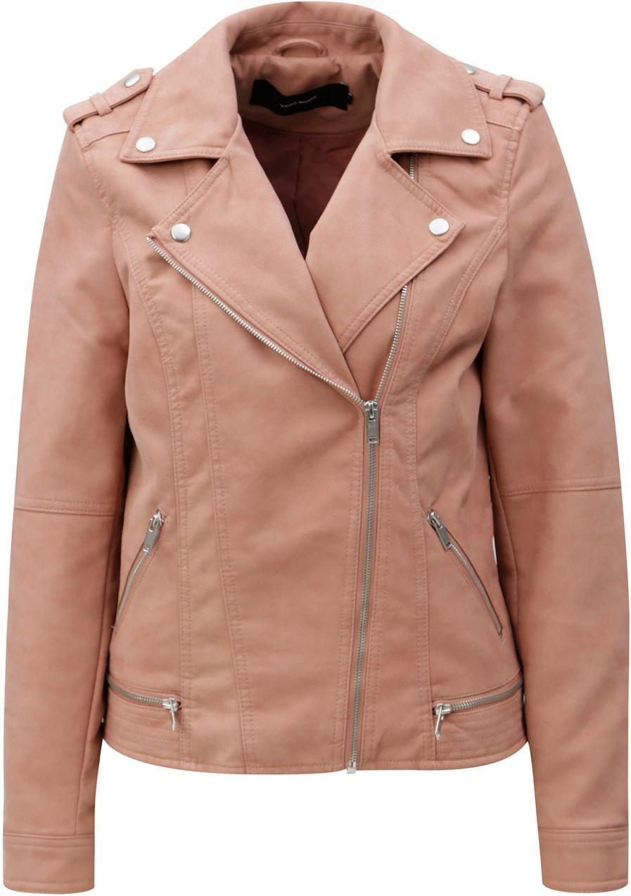 Ružová koženková bunda VERO MODA World značky Vero Moda - Lovely.sk 9e23e4d8953