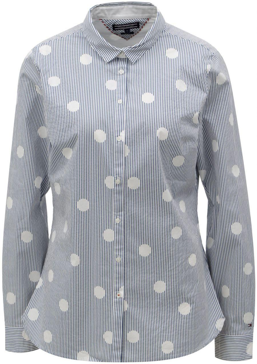 09d9308a87 Modro–biela dámska pruhovaná košeľa Tommy Hilfiger značky Tommy Hilfiger -  Lovely.sk
