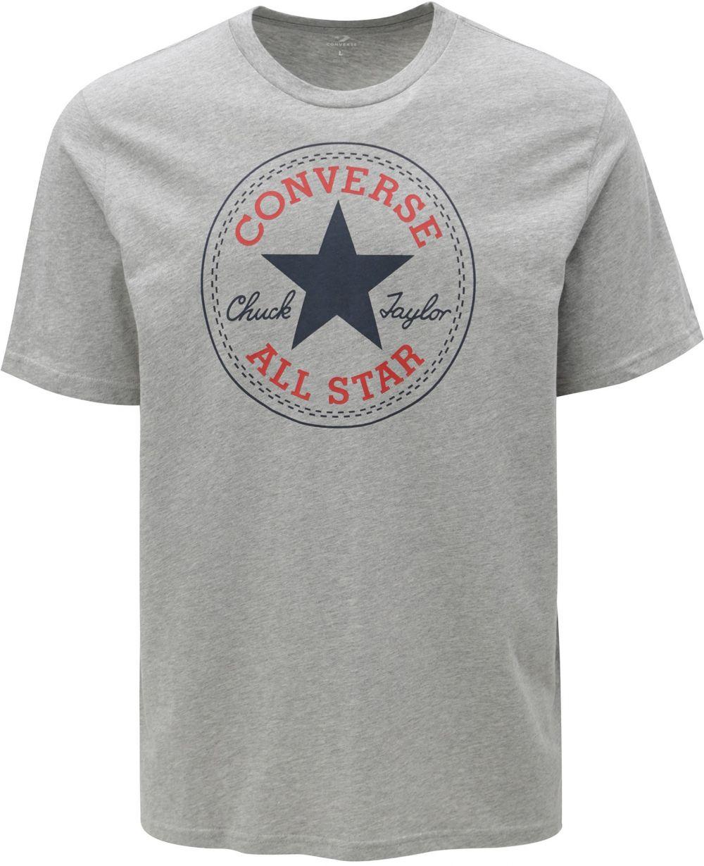 cab8d0432121 Sivé pánske melírované tričko s potlačou Converse Core Chuck značky ...