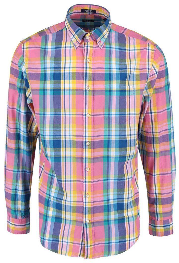 55231633d802 Modro-ružová pánska kockovaná regular fit košeľa GANT značky Gant -  Lovely.sk