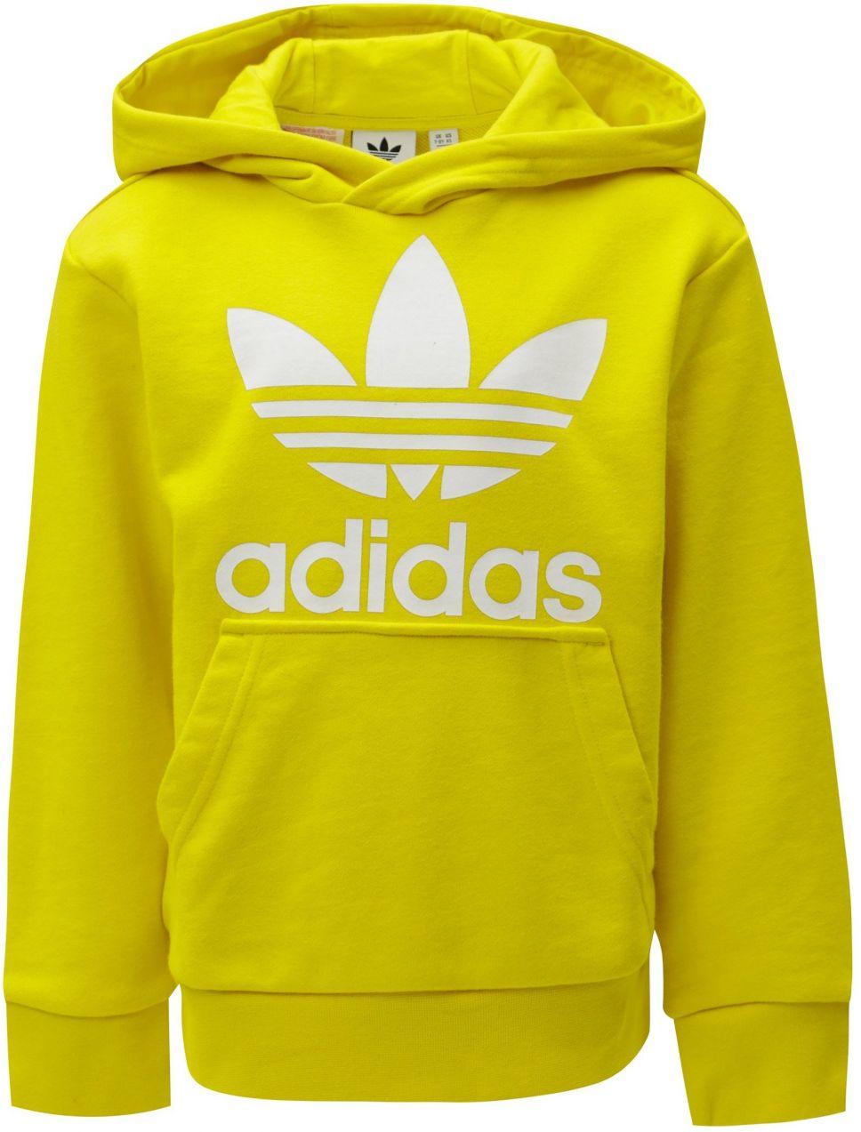 abba98c63 Žltá chlapčenská mikina s kapucňou a klokaním vreckom adidas Originals  Trefoil značky adidas Originals - Lovely.sk
