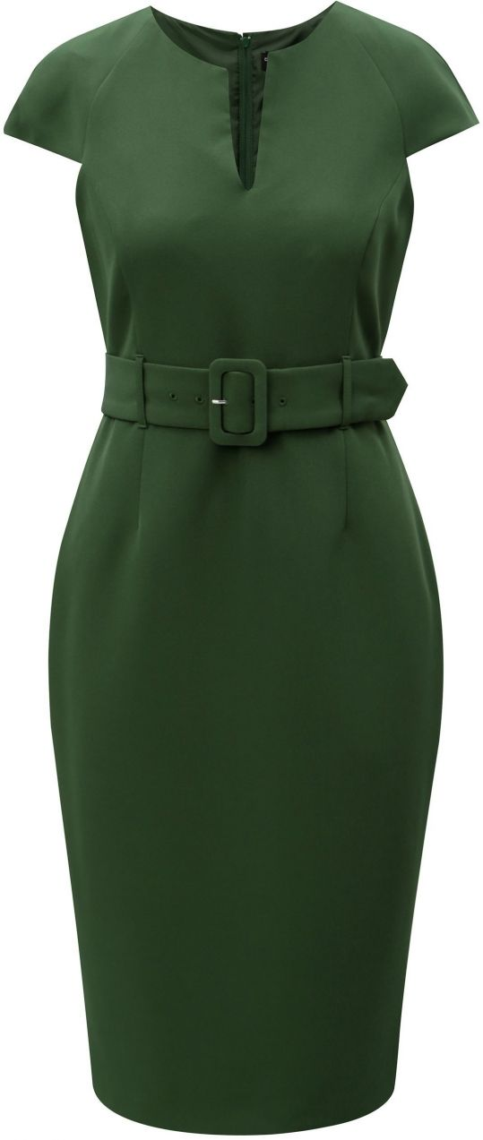 85faa41dfb16 Zelené puzdrové šaty s opaskom Dorothy Perkins značky Dorothy Perkins -  Lovely.sk