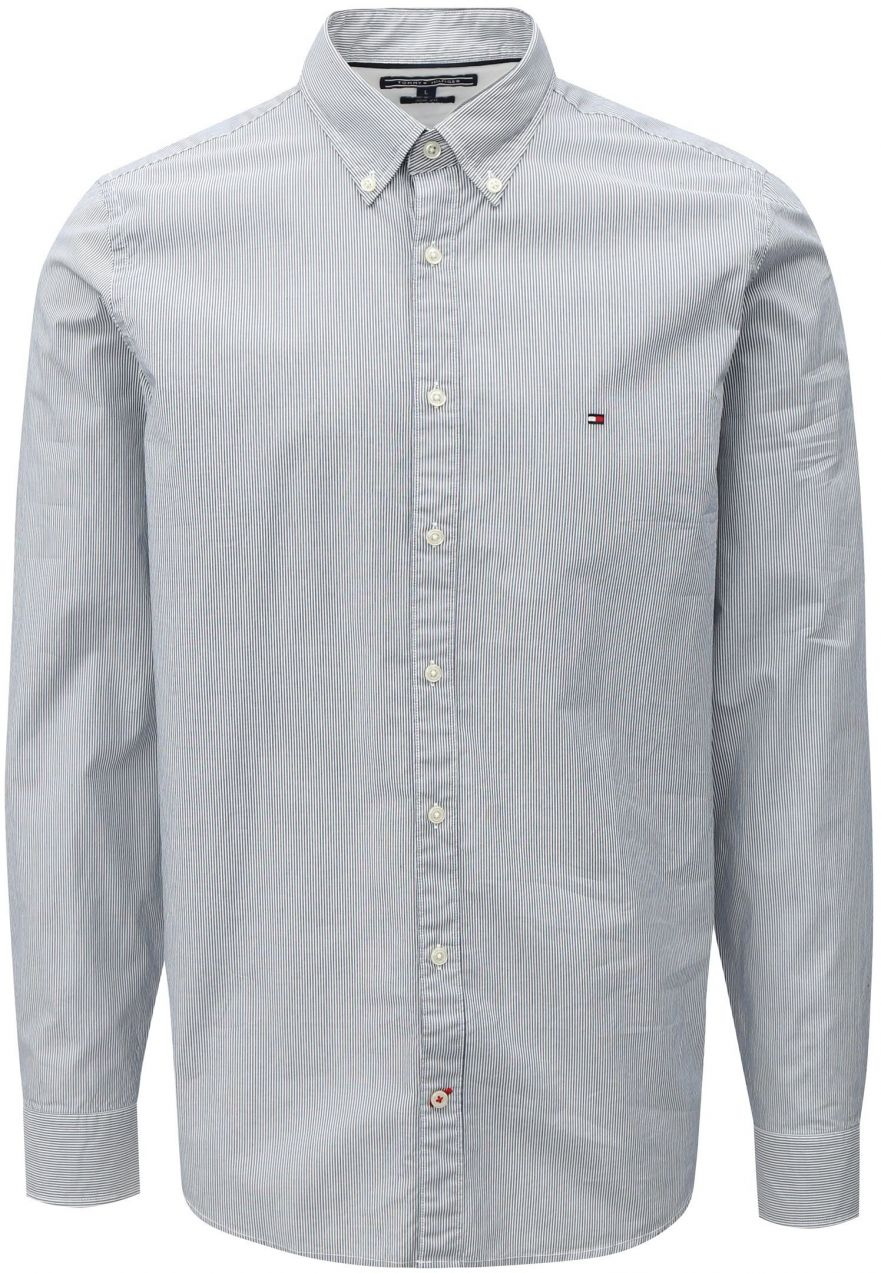 e994b430523a Bielo-modrá pánska slim fit pruhovaná košeľa Tommy Hilfiger značky Tommy  Hilfiger - Lovely.sk