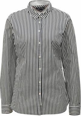 Čierno-biela dámska pruhovaná košeľa Tommy Hilfiger b096d625641