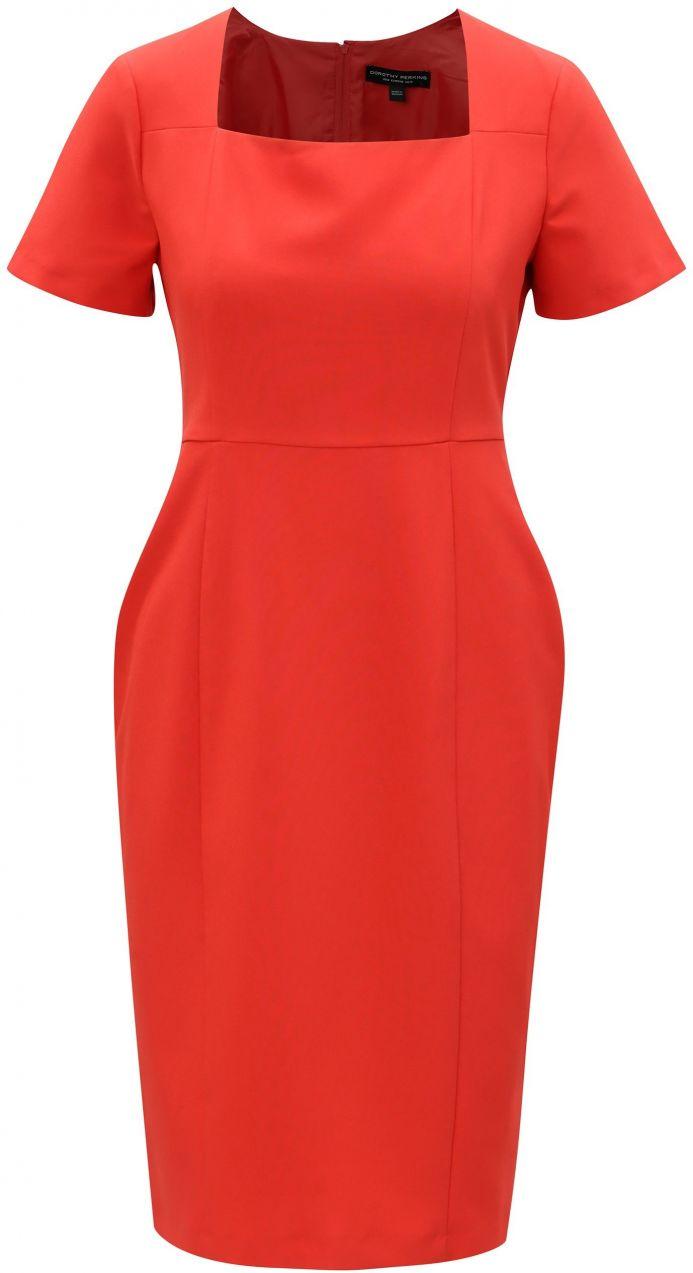 72de8daa78bc Červené puzdrové šaty s hranatým výstrihom Dorothy Perkins značky Dorothy  Perkins - Lovely.sk