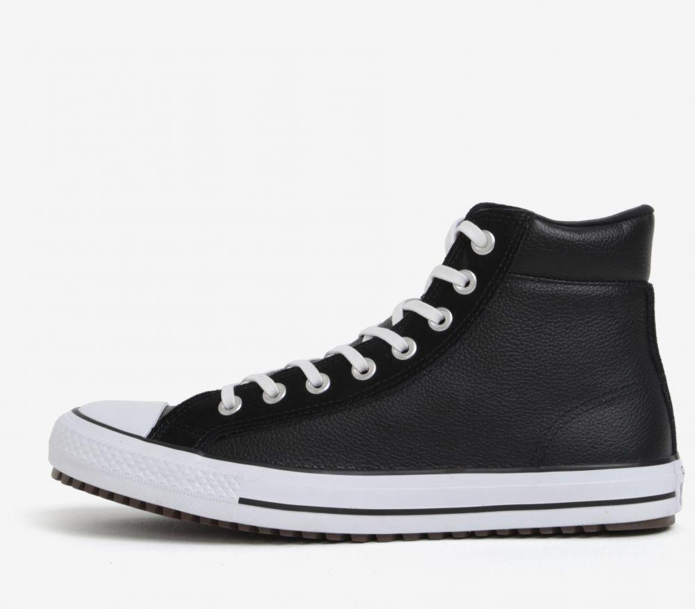 Čierne pánske členkové kožené tenisky Converse Chuck Taylor značky Converse  - Lovely.sk 642b5fd2658