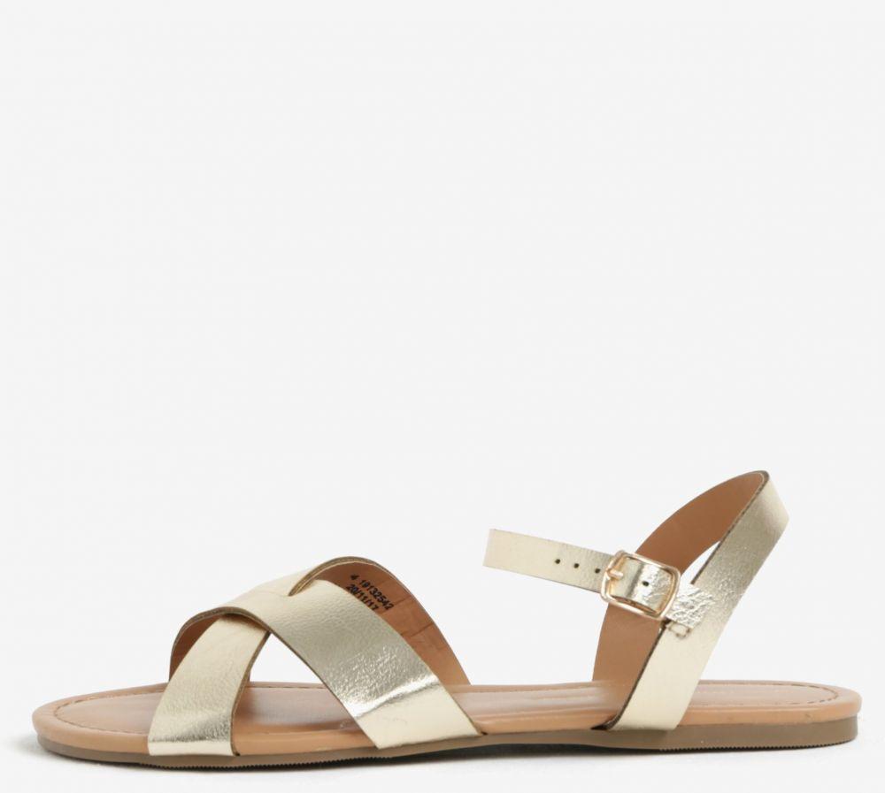 234b75c7270be Metalické remienkové sandále v zlatej farbe Dorothy Perkins značky Dorothy  Perkins - Lovely.sk