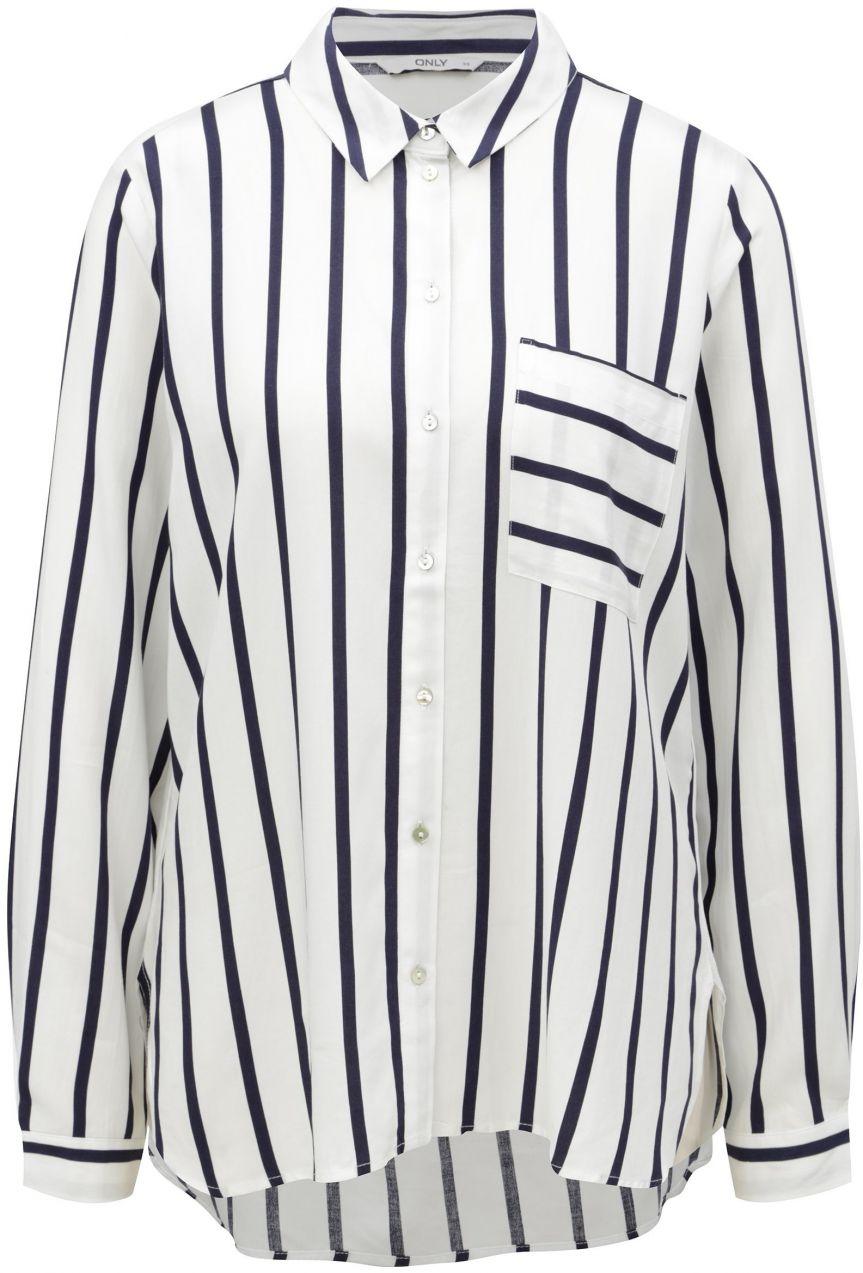 c45cc36c311c Modro-biela pruhovaná košeľa ONLY Sugar značky ONLY - Lovely.sk
