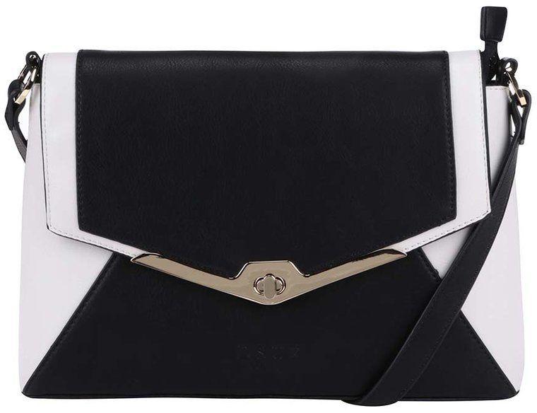 Bielo-čierna menšia crossbody kabelka DSUK značky DSUK - Lovely.sk 6d24802a040
